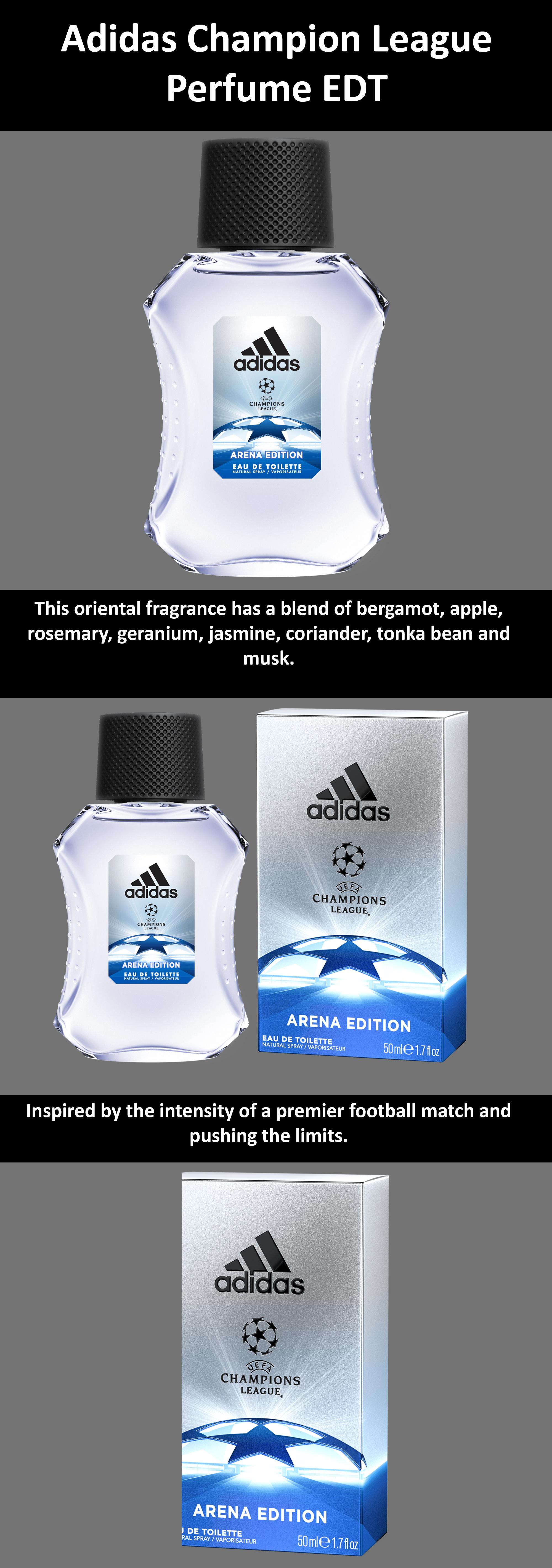 Shop adidas Adidas UEFA Champions League Arena Edition Perfume Spray for Men Eau De Toilette 100 ml online in Egypt