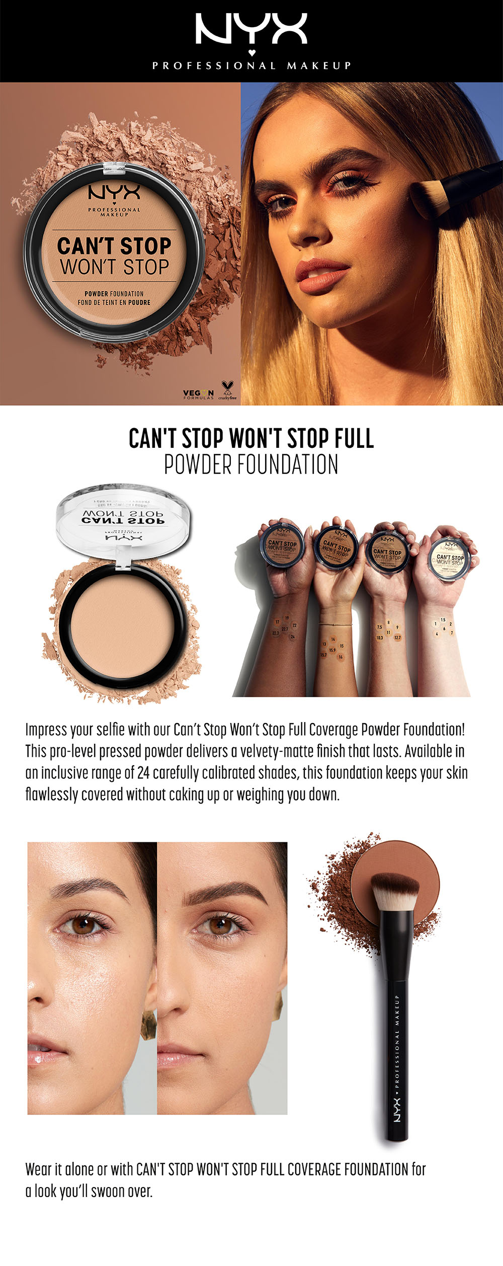 Shop Nyx Professional Makeup Makeup Can T Stop Won T Stop Setting Powder Deep Espresso Deep Espresso Online In Dubai Abu Dhabi And All Uae