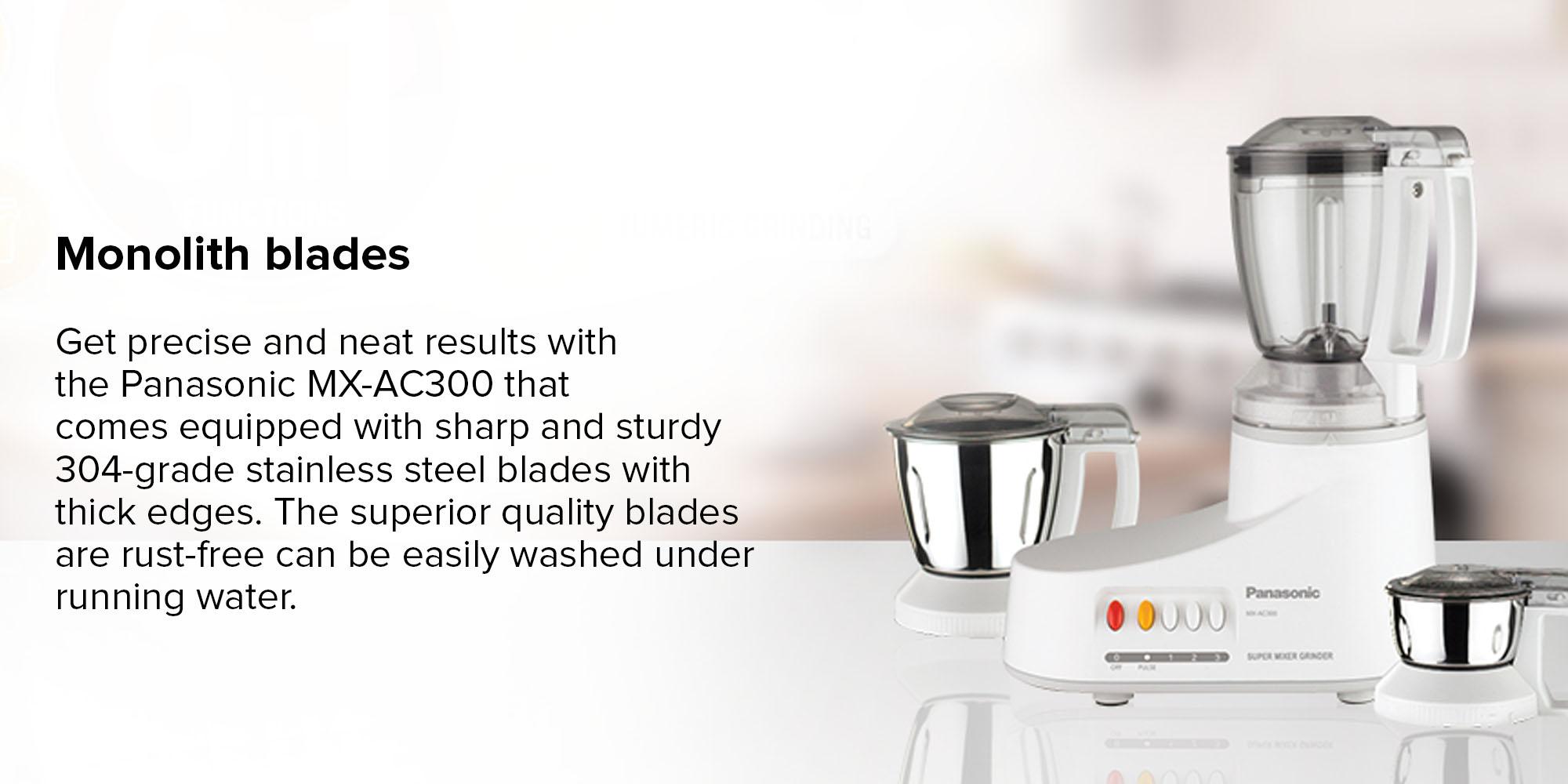 Shop Panasonic Electric Mixer Grinder 550W MXAC300 White/Silver/Black online in Dubai, Abu Dhabi and all UAE