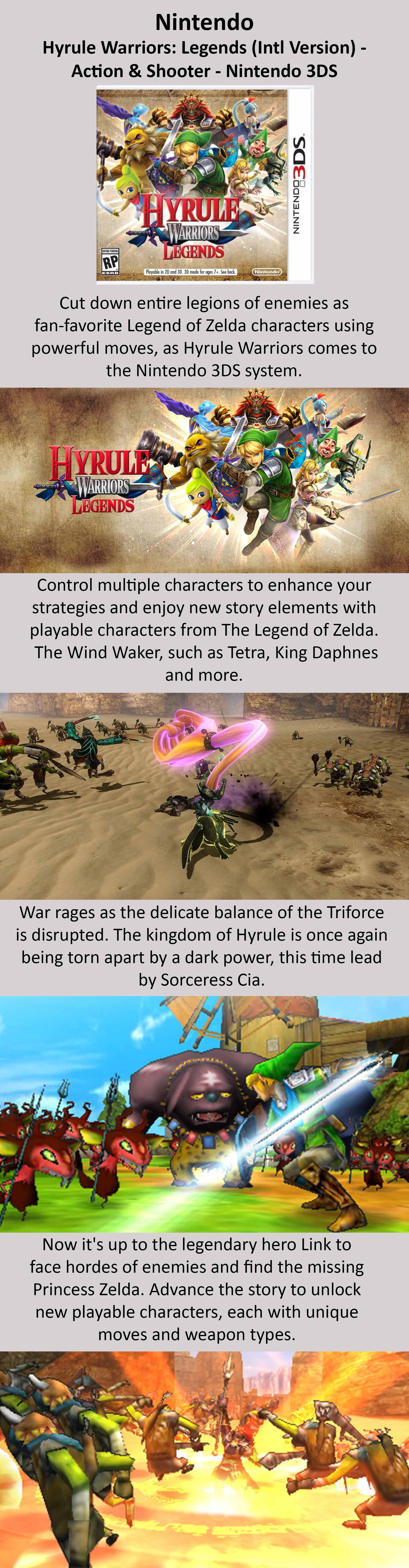 Shop Nintendo Hyrule Warriors Legends Intl Version Nintendo 3ds Online In Dubai Abu Dhabi And All Uae