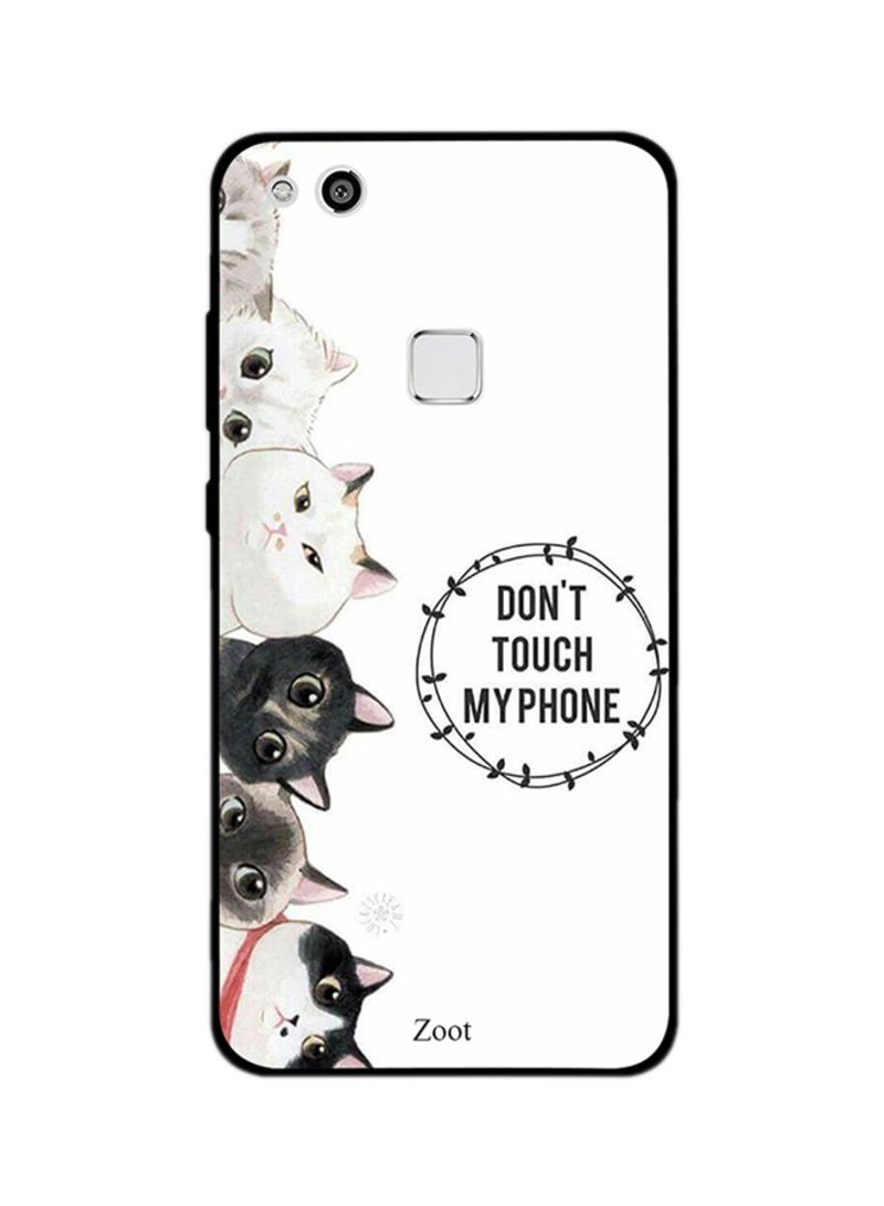 Shop Zoot Thermoplastic Polyurethane Protective Case Cover For Huawei P10 Lite Cats Don't Touch My Phone online in Dubai, Abu Dhabi and all UAE