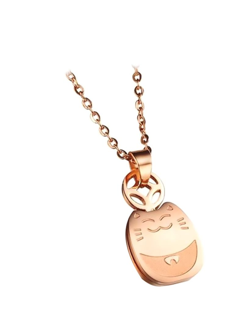 Buy Now Opk Rose Gold Plated Animal Shaped Pendant Necklace Rose Gold With Fast Delivery And Easy Returns In Dubai Abu Dhabi And All Uae