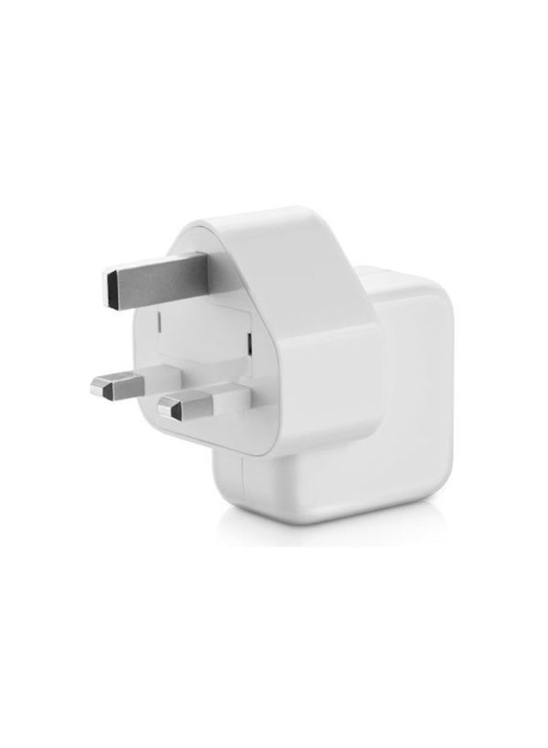 Shop 3-Pin Socket Power Adapter White online in Dubai, Abu Dhabi and all UAE