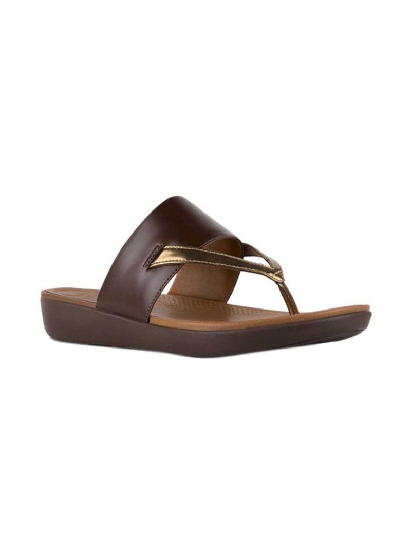 - Delta Toe-Thong Sandals Espresso/Bronze Mirror