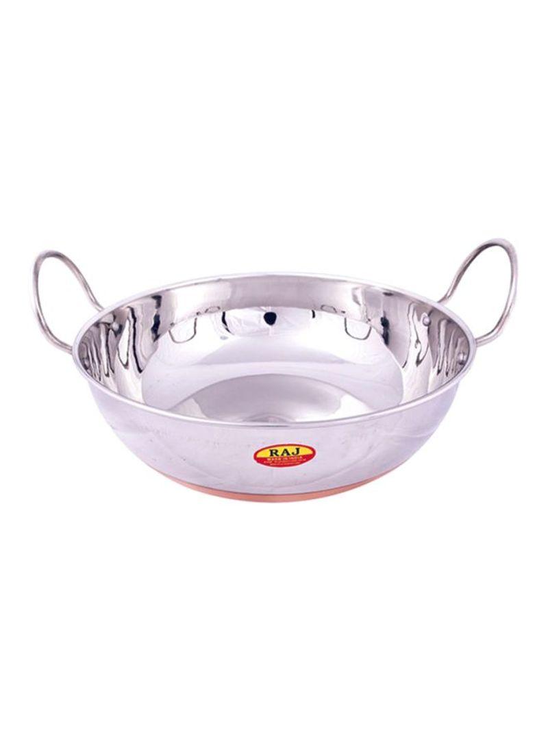 Raj Kitchen Aluminium Kadai Cooking Pans Silver 27 x 10cm