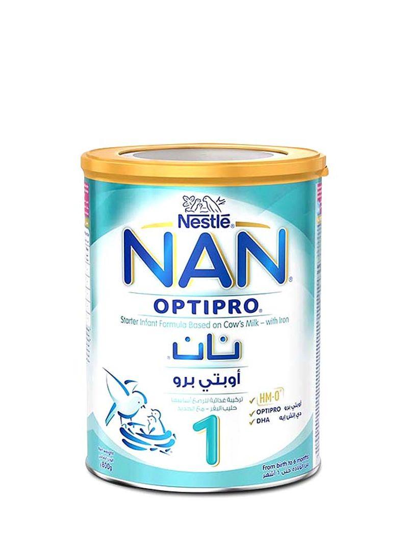 تسوق نان وتركيبة حليب الرضع نان أوبتيبرو المرحلة 1 800غم أونلاين في الإمارات