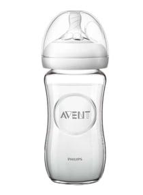 زجاجة رضاعة فيليبس أفينت المصنوعة من الزجاج الطبيعي، عبوة من قطعة واحدة